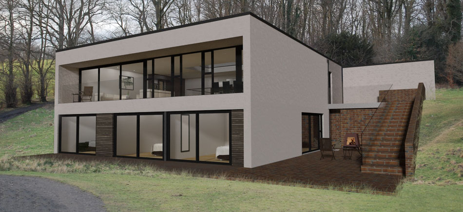 Sloping site house plans uk house plans Sloping site house designs